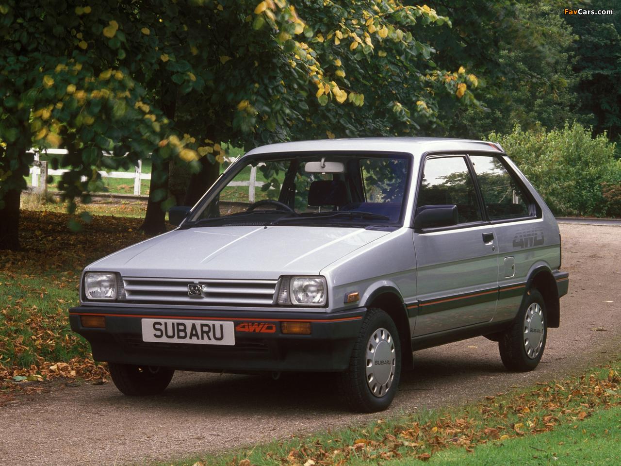 Subaru Justy 3-door UK-spec 1984–88 images (1280 x 960)
