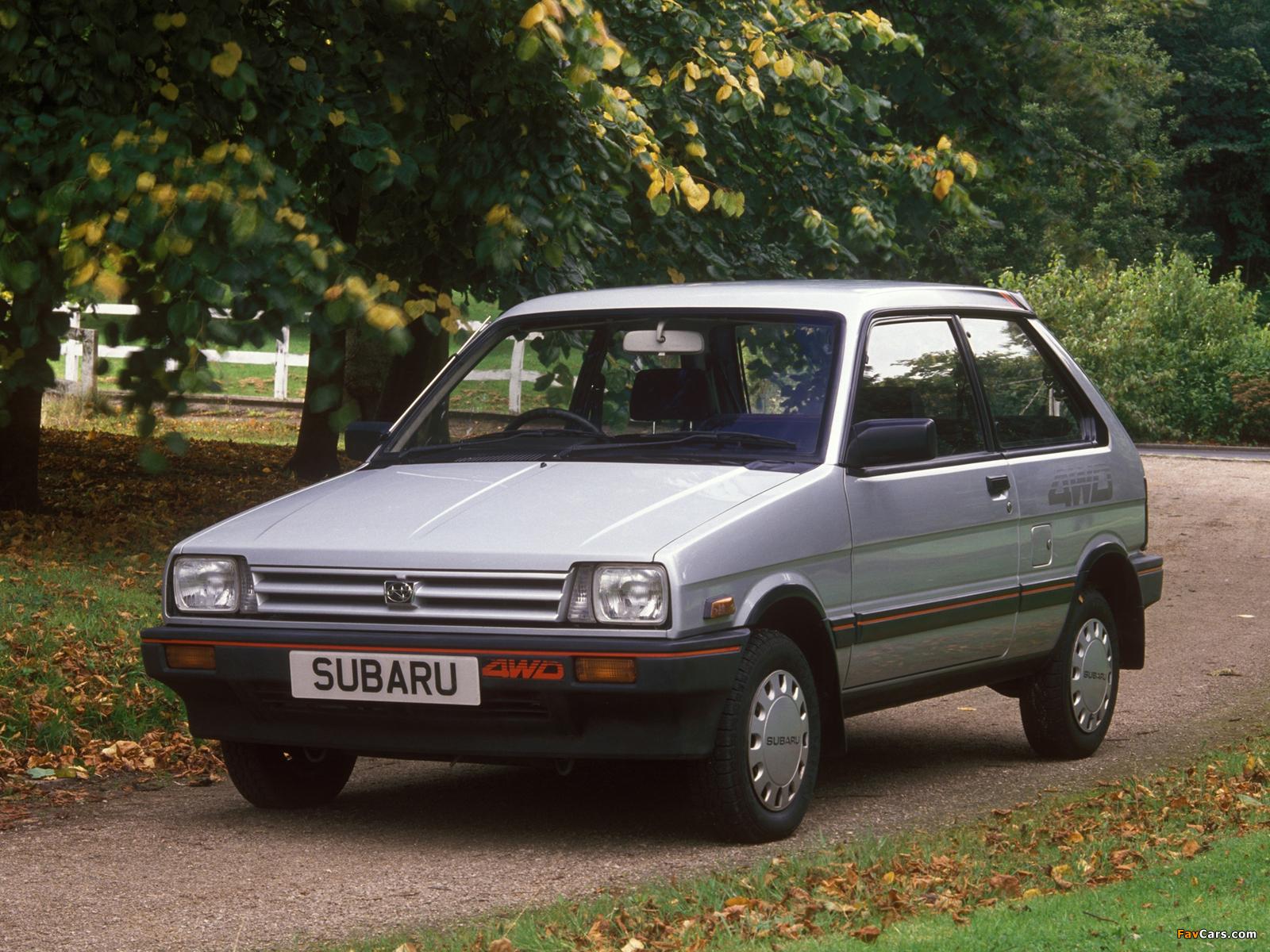 Subaru Justy 3-door UK-spec 1984–88 images (1600 x 1200)