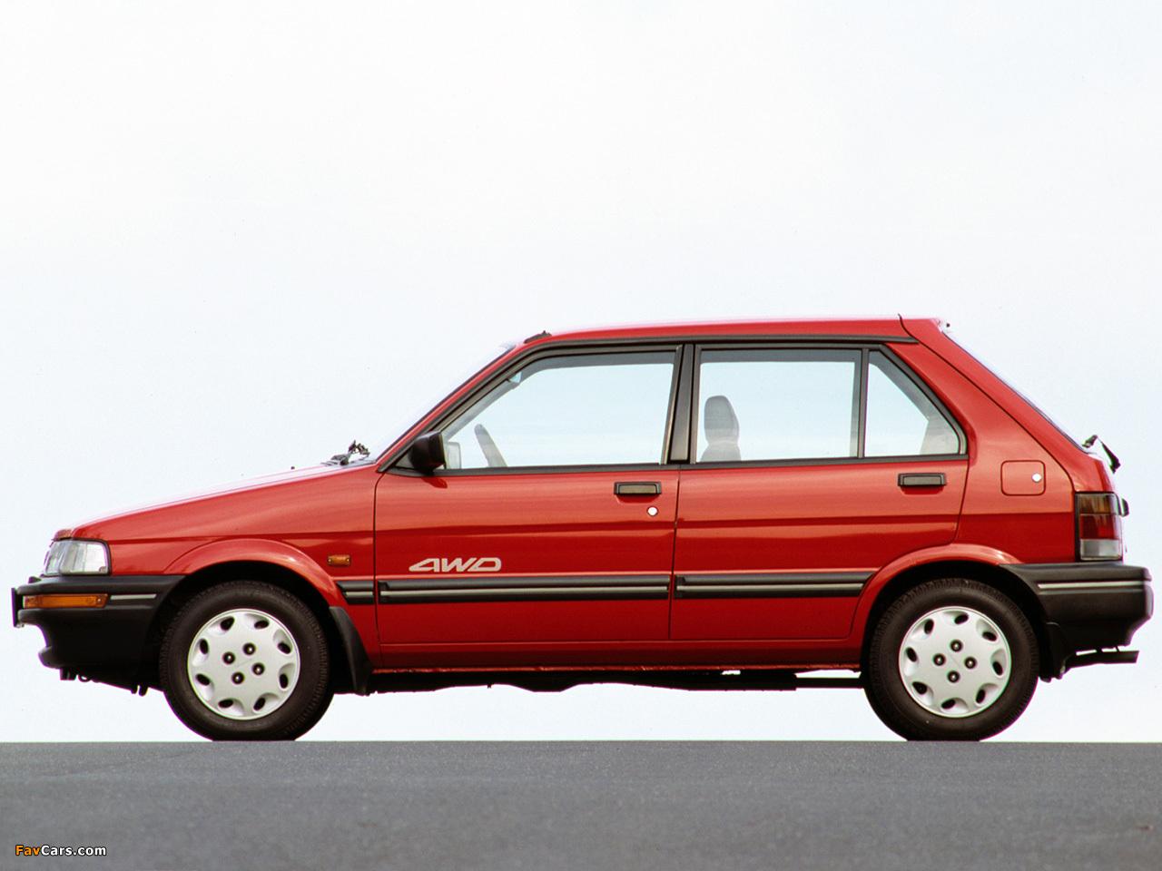 Subaru Justy 5-door 1988–94 images (1280 x 960)