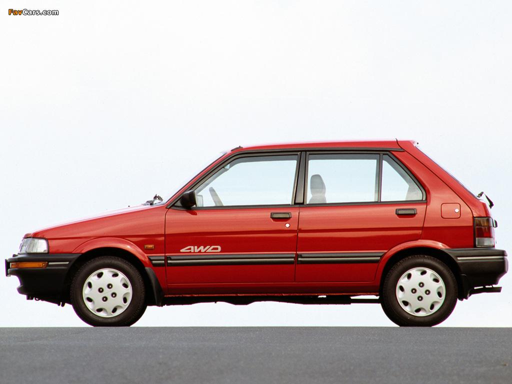 Subaru Justy 5-door 1988–94 images (1024 x 768)