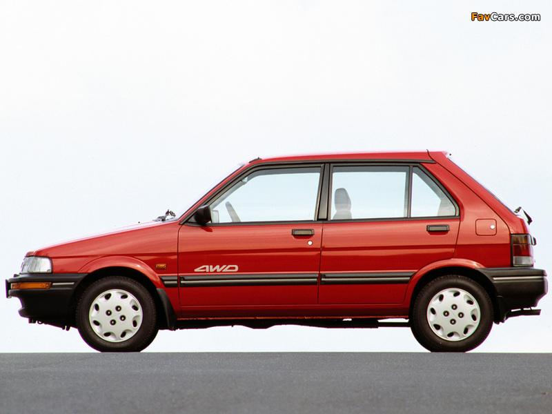 Subaru Justy 5-door 1988–94 images (800 x 600)