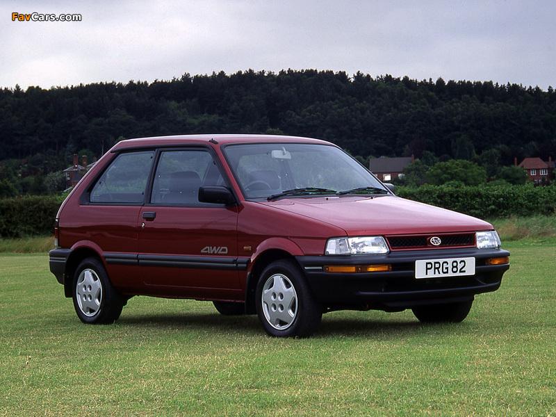 Subaru Justy 3-door UK-spec 1988–94 pictures (800 x 600)