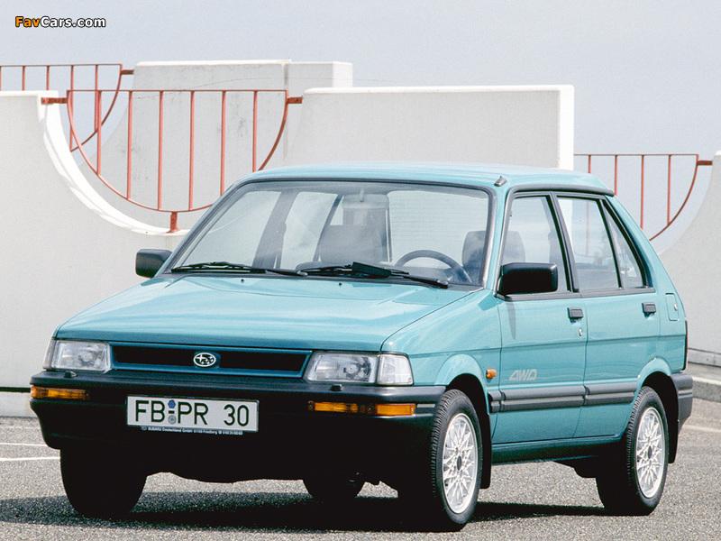 Subaru Justy 5-door 1988–94 pictures (800 x 600)
