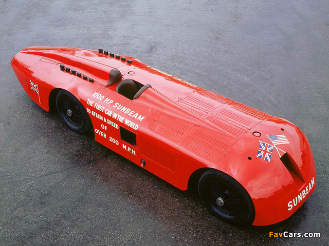 Sunbeam 1000 HP Land Speed Record Car 1927 images (640 x 480)