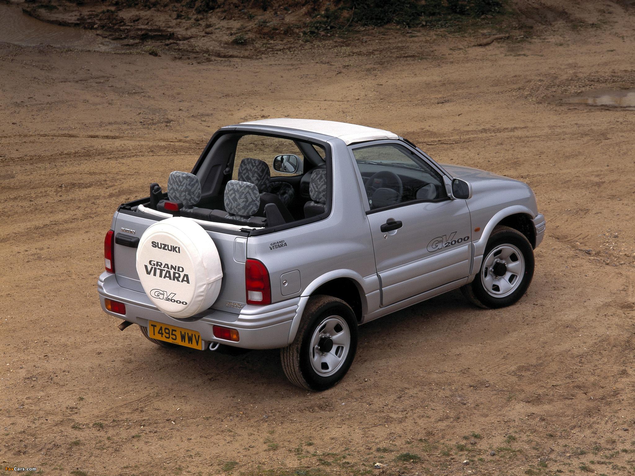 Pictures of Suzuki Grand Vitara Canvas Top UK-spec 1998–2005 (2048 x 1536)