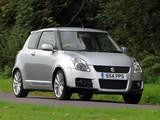 Photos of Suzuki Swift Sport UK-spec 2005–11