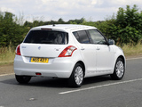 Photos of Suzuki Swift 5-door UK-spec 2010–13