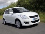Photos of Suzuki Swift 5-door UK-spec 2010–13