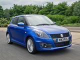 Photos of Suzuki Swift Sport 5-door UK-spec 2013