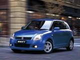 Pictures of Suzuki Swift 3-door 2004–10