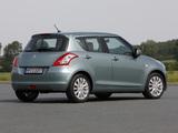 Pictures of Suzuki Swift 5-door 2010–13