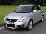 Suzuki Swift Sport UK-spec 2005–11 images