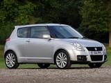 Suzuki Swift Sport UK-spec 2005–11 images