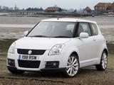 Suzuki Swift Sport UK-spec 2005–11 pictures