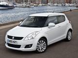 Suzuki Swift 5-door UK-spec 2010–13 images