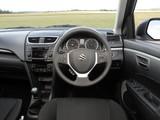 Suzuki Swift 5-door UK-spec 2010–13 photos