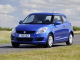 Suzuki Swift 3-door UK-spec 2010–13 wallpapers