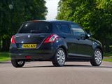 Suzuki Swift 5-door UK-spec 2010–13 wallpapers