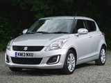 Suzuki Swift 5-door UK-spec 2013 wallpapers