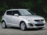 Suzuki Swift 5-door UK-spec 2013 wallpapers
