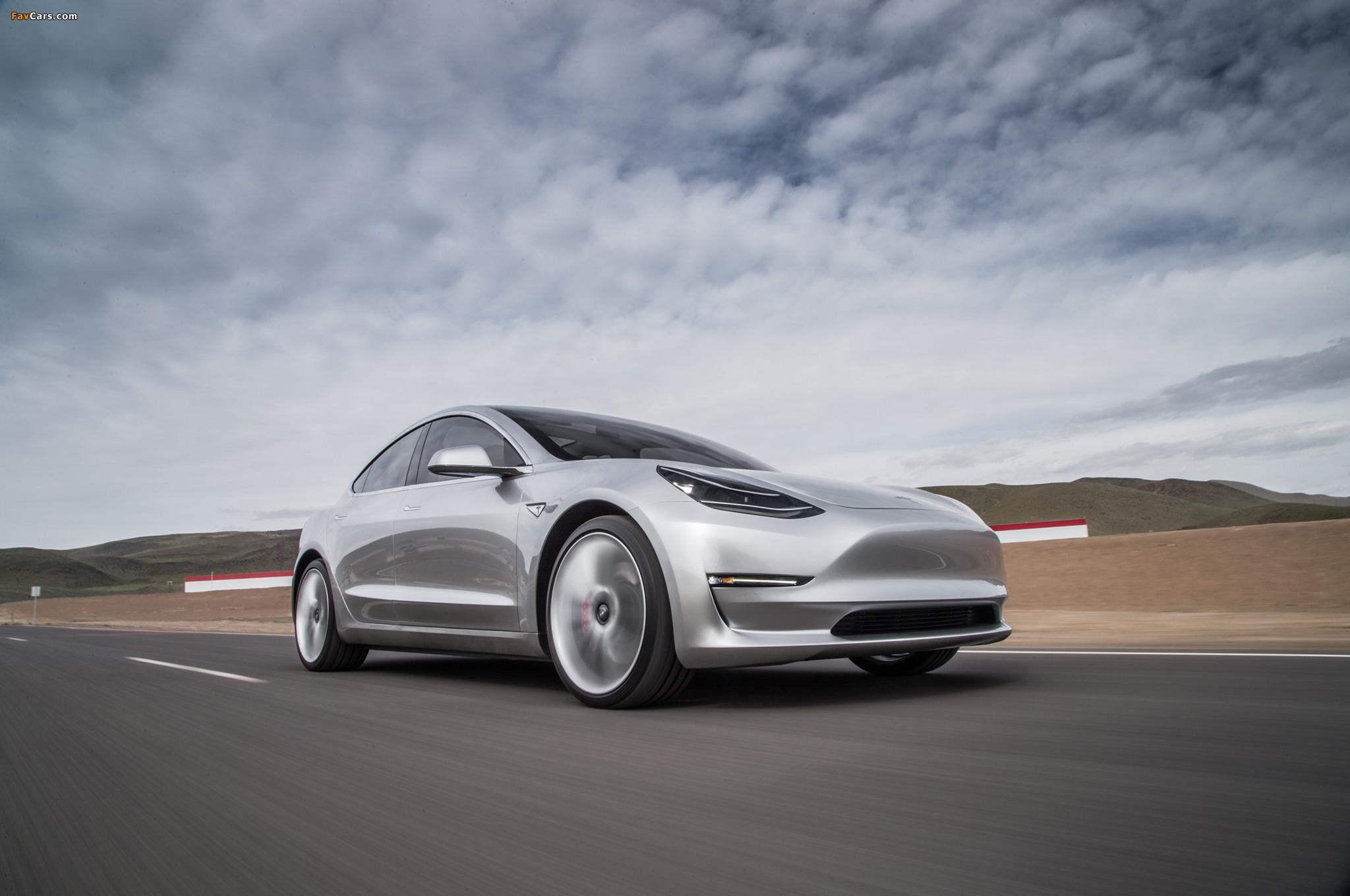 Tesla Model 3 Prototype 2016 Wallpapers 2048x1360