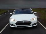 Photos of Tesla Model S P85+ UK-spec 2014