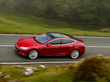 Tesla Model S P85+ UK-spec 2014 images
