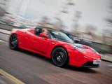 Tesla Roadster Sport UK-spec 2009–10 wallpapers
