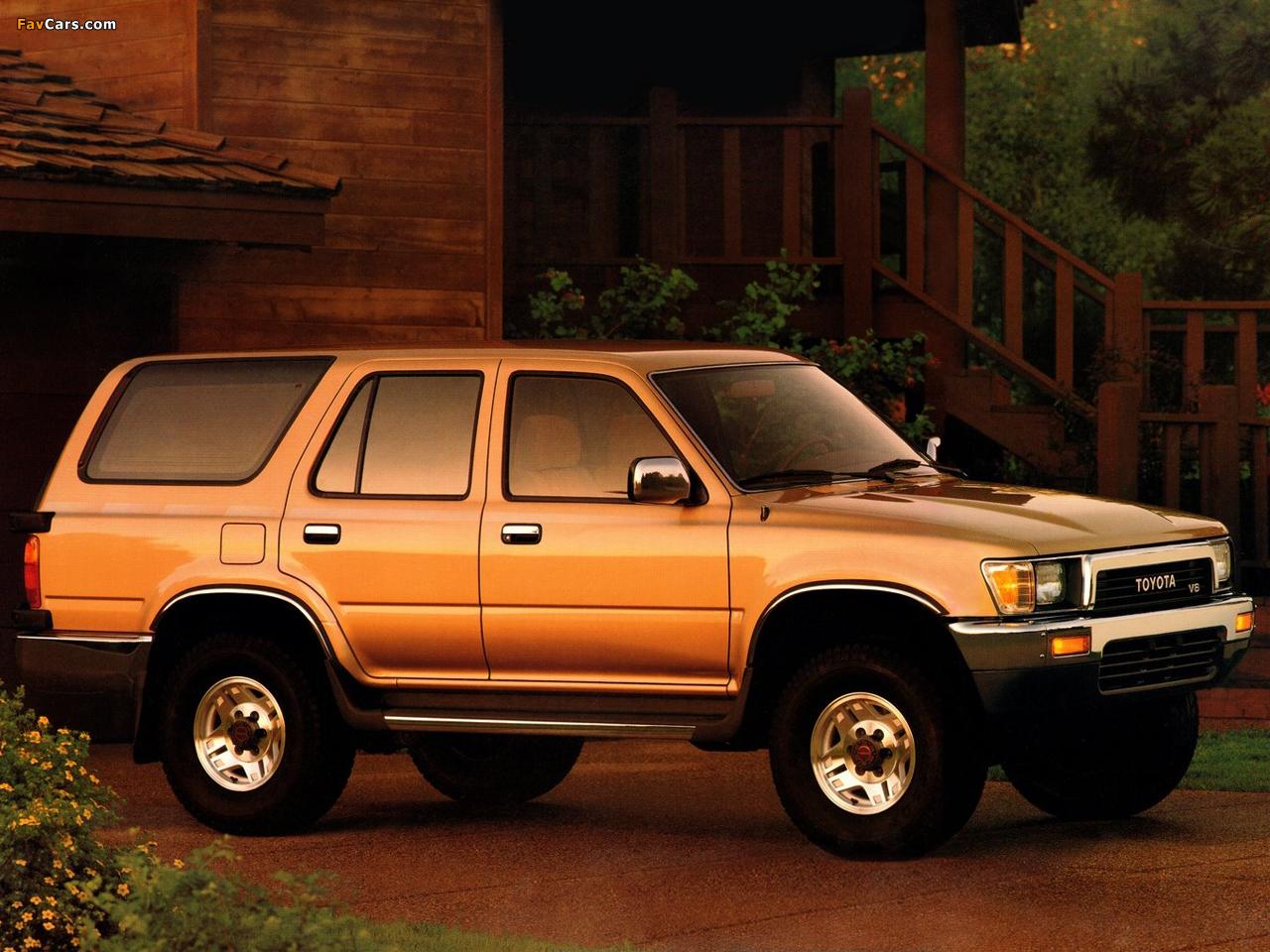 4 Runner >> Pictures of Toyota 4Runner 5-door US-spec 1989–92 (1280x960)