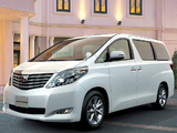 Pictures of Toyota Alphard JP-spec (ANH20W) 2008–11