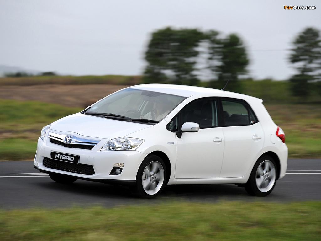 Photos of Toyota Auris HSD ZA-spec 2011 (1024 x 768)