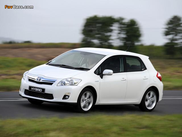 Photos of Toyota Auris HSD ZA-spec 2011 (640 x 480)