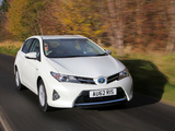 Photos of Toyota Auris Hybrid UK-spec 2012