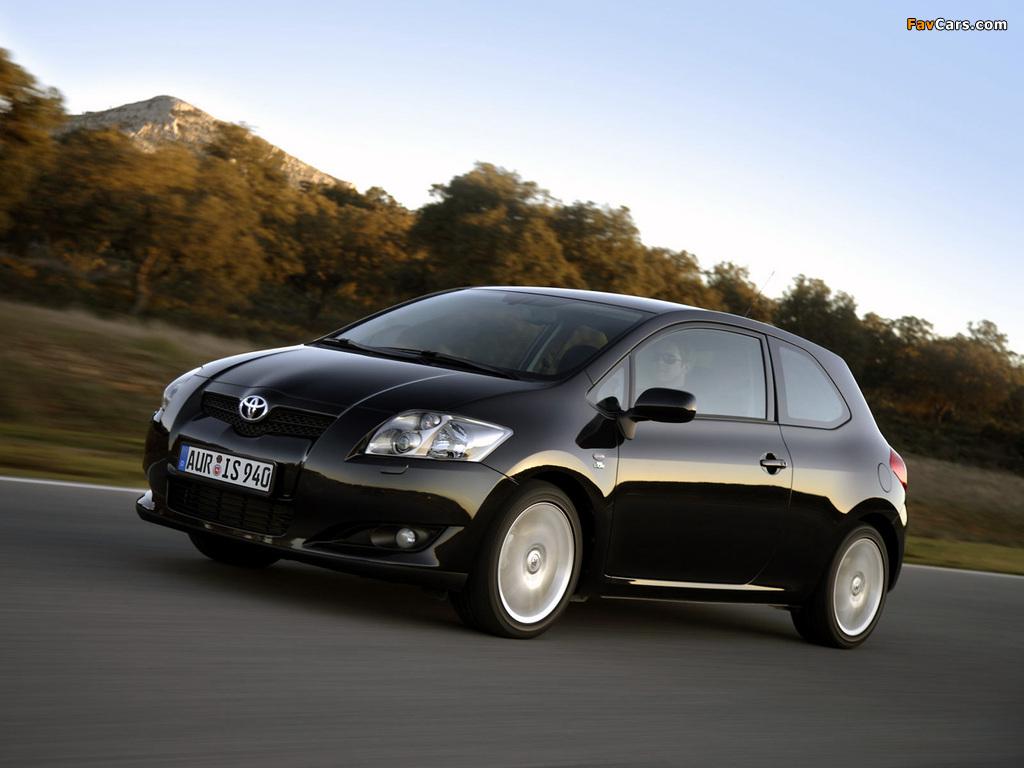 Pictures of Toyota Auris 3-door 2007–10 (1024 x 768)