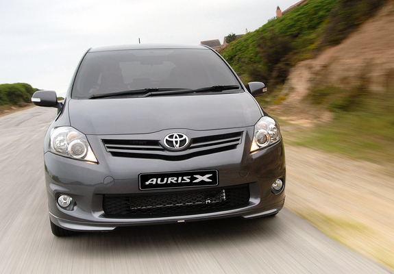 pictures of toyota auris sport x za spec 2010. Black Bedroom Furniture Sets. Home Design Ideas