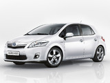 Pictures of Toyota Auris HSD 2010–12