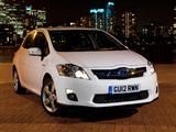 Pictures of Toyota Auris HSD UK-spec 2010–12