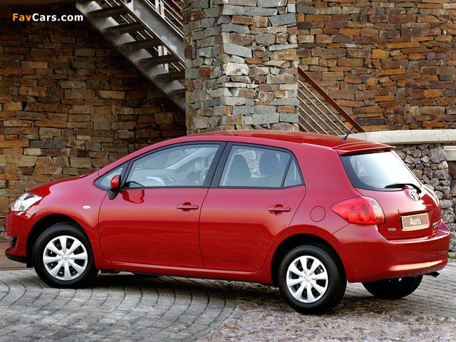 Toyota Auris 5-door ZA-spec 2007–10 wallpapers (640 x 480)