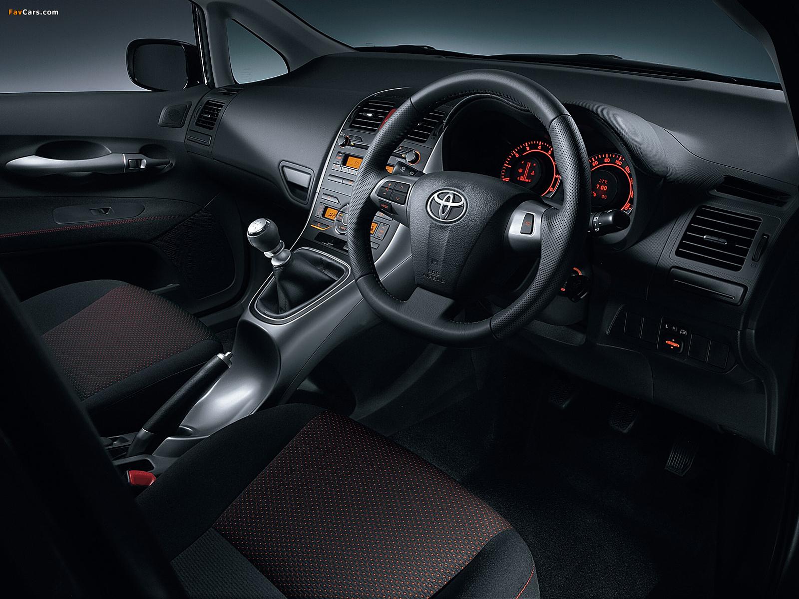 Toyota Auris JP-spec 2009–12 images (1600 x 1200)