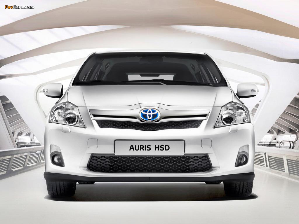 Toyota Auris HSD 2010–12 photos (1024 x 768)