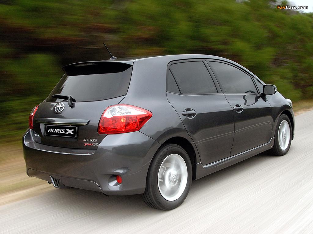 Toyota Auris Sport X ZA-spec 2010 photos (1024 x 768)