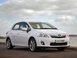 Toyota Auris HSD UK-spec 2010–12 pictures
