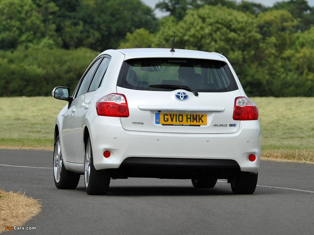 Toyota Auris HSD UK-spec 2010–12 pictures (1024 x 768)