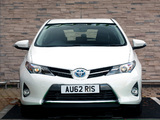 Toyota Auris Hybrid UK-spec 2012 images