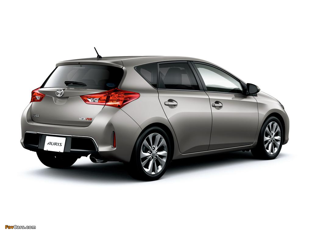 Toyota Auris RS S Package JP-spec 2012 photos (1024 x 768)