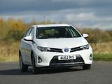 Toyota Auris Hybrid UK-spec 2012 wallpapers