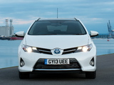 Toyota Auris Touring Sports Hybrid UK-spec 2013 photos