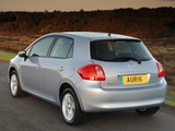 Toyota Auris 5-door UK-spec 2007–10 wallpapers