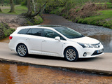 Pictures of Toyota Avensis Wagon UK-spec 2012