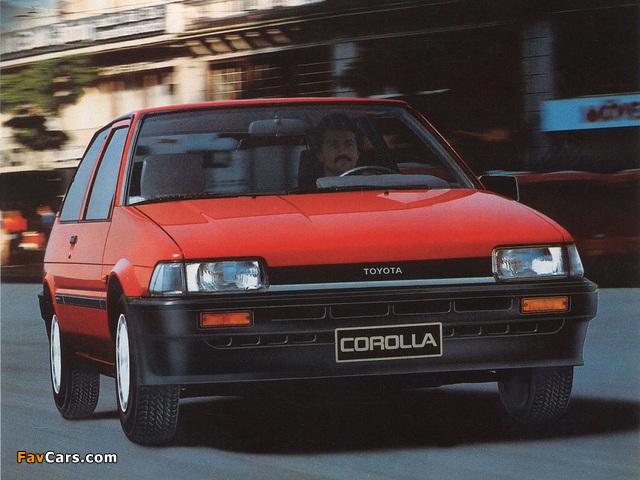 Toyota Corolla Compact 3-door (E80) 1983–87 wallpapers (640 x 480)